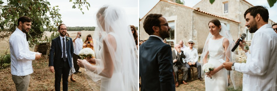 cérémonie laïque officiant mariés face à face