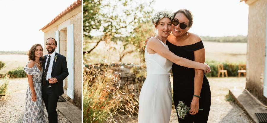 témoins mariés mariage contre-jour fin de journée
